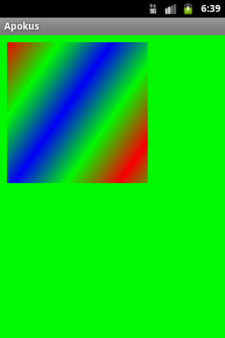 linear gradient bitmap android example
