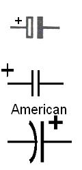 Elektrolytický kondenzátor elektrotechnická značka